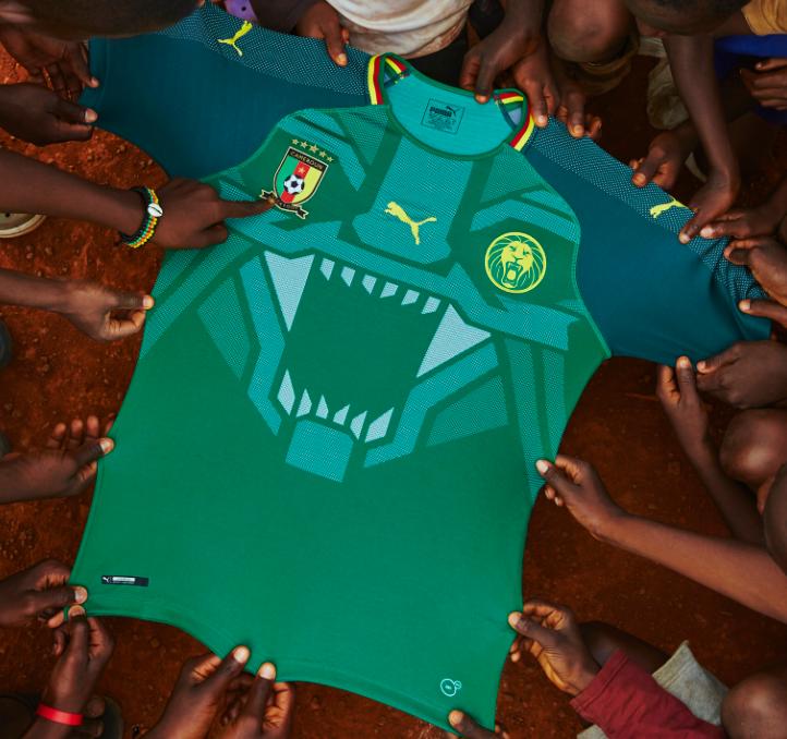 カメルーン代表、Pumaによる新ユニフォーム