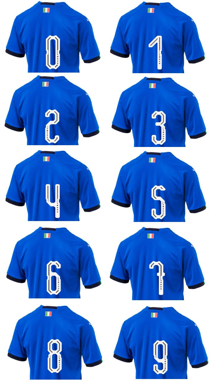イタリア代表のW杯用ユニフォーム、独自フォント